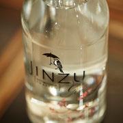 Und auch Neuerscheinungen haben wir im Programm - wie hier der Jinzu Gin auf Basis von Sake-Reiswein