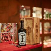 Immer wieder bieten wir ausgewählte Produkte zur Verkostung an - wie hier den Ferdinand's Saar Dry Gin