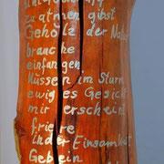 """""""Gebein frischen Waldes""""  Buche mit Schellack und Blattgold 23,75 Karat"""