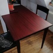Mahagoni Tisch - mit Säule
