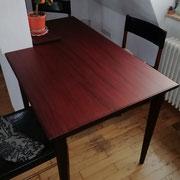 Tisch aus historischem englischen Mahagoni - Einbeziehung der Säule