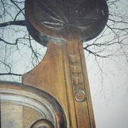 Gehöfttor in Mahagoni, Detail