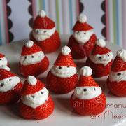 Erdbeeren im Winteroutfit