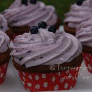 Blaubeer-Cupcakes