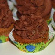 Cupcakes mit Schokoladentopping