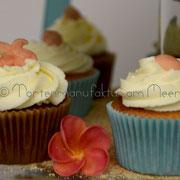 Kokos- und Zitronencupcakes
