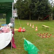 Vorbereitung Dorffest in Rägelin