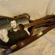 """Geer and Greetjie Guitar"",ritratto su chitarra acustica , Olanda"