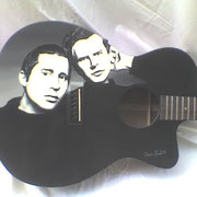 """S&G guitar"", soggetto: Simon and Garfunkel, chitarra acustica, USA"