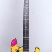 """Marylin"", airbrush and handpaint on electric bass"