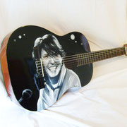 """De andrè"" airbrush and handpaint on classical guitar"