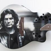 """Davide Ricchetti, chitarra """"Liga"""" aerografia, 2013"""