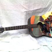 """""""Spiderman guitar"""", chitarra acustica mancina"""