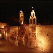 Geburtskirche in Bethlehem mit Mauersegler-Nistplätzen