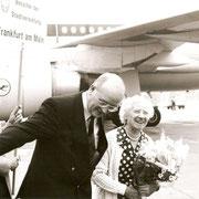 die Mutter des Preisträgers, 1905 in Frankfurt geboren, 1933 vor den Nazis nach Haifa geflohen, 1988 zu Besuch in Frankfurt,  Foto: Miiko Krizanovic,  FAZ