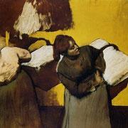 Blanchisseuses portant du linge (1876-1878)
