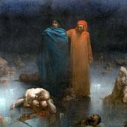 Dante et Virgile dans le 9e cercle de l'Enfer (1861)