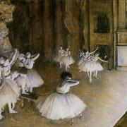 Répétition d'un ballet sur la scène (1874)