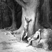 Adam and Eve in remorse and despair (1866)