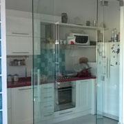 vetrata ad impacchettamento scorrevole e pieghevole