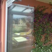 vetrata scorrevole ad impacchettamento