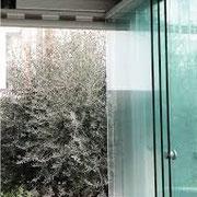 vetrata scorrevole ad impacchettamento per terrazze