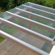 tettoia in vetro del b&b fischer house