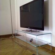 porta tv in vetro