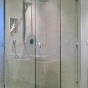 box doccia scorrevole con doppio fisso apertura centrale