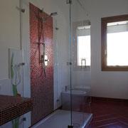 box doccia doppia anta e due fissi laterali cerniere vetro-vetro 90°