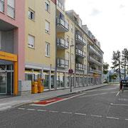 Anfahrt zur Tiefgarage oder Rückseite vom Hotel über die Cesar-Stünzi-Strasse