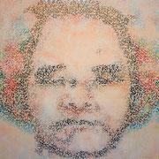 あさみづのなか 2010 木版画、メディウム 145.5×145.5cm