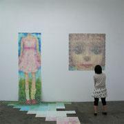 いれかわり たちかわり 2007 木版画 左90×300cm 右150×150cm