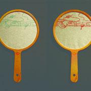 うきよのまどのうち 2011 木版画 雁皮紙 ぽい 各10×15cm 一部個人蔵