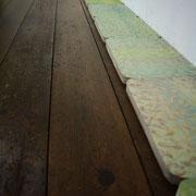 みぎわのみなわ 2011 パネルに木版画、雁皮紙、アクリル、塗料 各21×29cm 一部個人蔵