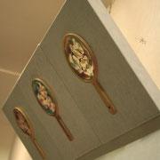 はながたみ 2012 木版画、雁皮紙、塗料、ポイ、パネル