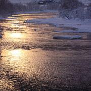 朝日を浴びて 雨竜川【沼田町】