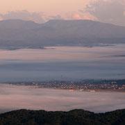 滝川市 雲海流れる滝川の街