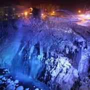 美瑛町 白髭の滝ライトアップ
