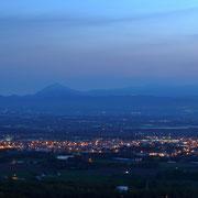マオイ文学台から長沼町夜景