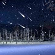 美瑛町 青い池ライトアップ