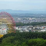 岩見沢市 いわみざわ公園見晴らし台からの眺望
