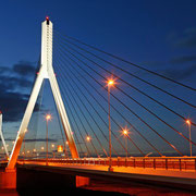 江別市 優美な姿を見せる美原大橋