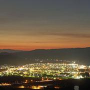 芦別市 上金剛山からの夜景