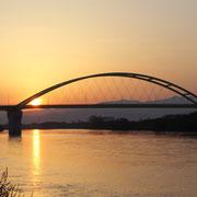 美唄市-石狩川 美唄と浦臼を結ぶ美浦大橋