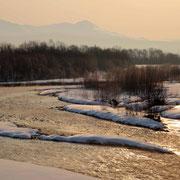 冬の忠別川