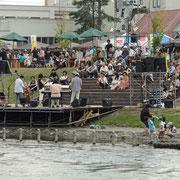千歳市-千歳川河畔公園オープンカフェ