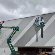 Fassadenlogo der Firma WSH in Bayern