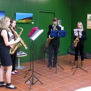 Saxofon-Quartett der städtischen Musikschule