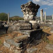 Säulenkapitell des Aphrodite-Tempels